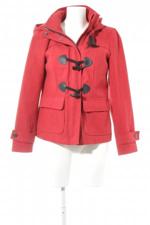 Vero Moda Kapuzenjacke rot-schwarz Casual-Look