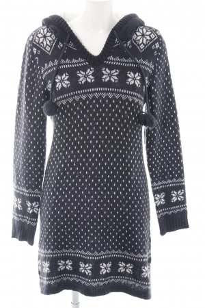Vero Moda Hooded Dress blue-white graphic pattern casual look