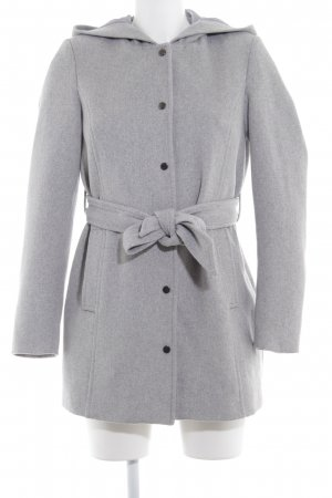 Vero Moda Hooded Coat grey-light grey flecked casual look