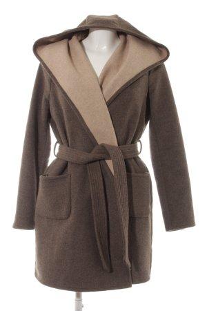Vero Moda Cappotto con cappuccio marrone-grigio stile casual