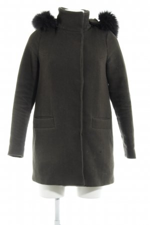 Vero Moda Hooded Coat khaki-black casual look