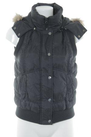 Vero Moda Hooded Vest black casual look