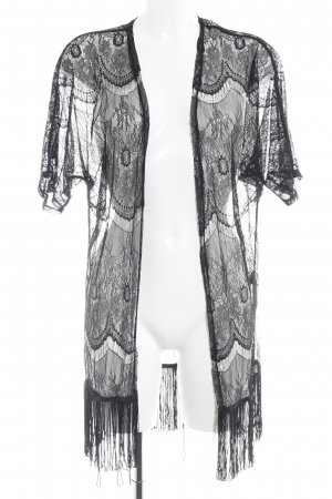 Vero Moda Kimono schwarz Spitzen-Optik