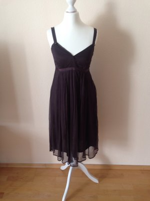 Vero Moda Kleid braun Gr. 34 knielang 100% Seide