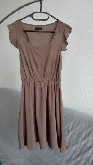 Vero Moda Kleid Cocktailkleid XS 34 braun Rüschen leicht