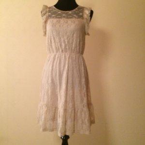 Vero moda Kleid Creme mit spitze