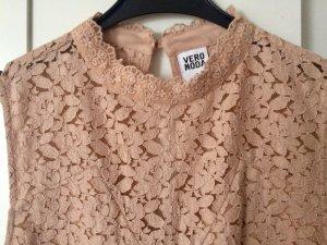 Vero Moda Robe en dentelle rosé coton