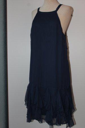 Vero Moda Kleid dunkelblau blau Zipfelkleid Trägerkleid neu Gr. UK 12 EUR 40 M L