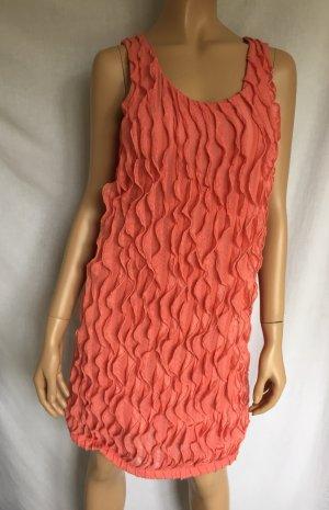 Vero Moda Kleid Gr.M Minikleid Mini Flowy Dress Lachs rotes Rüschen Rüschenkleid