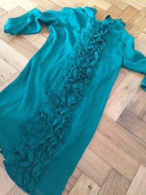 Vero Moda Kleid, Hingucker in Wald-Grün, Größe M