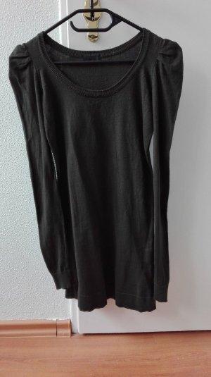 Vero Moda Kleid Longshirt khaki grün XS 34 Puffärmel mini