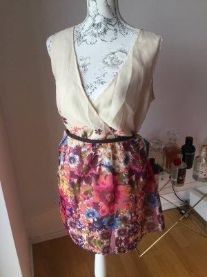 Vero Moda Kleid mit Blumen und Gürtel Gr XL