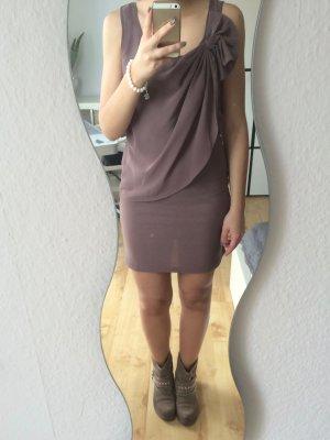 Vero Moda Kleid Shirtkleid braun mit Schleife