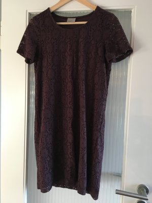 Vero Moda Kleid Spitze dunkles Bordeaux/Braunrot