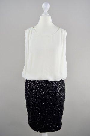 Vero Moda Kleid Stoffmix Pailletten schwarz Größe XS