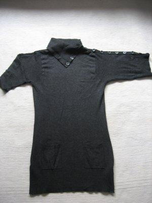 vero moda kleid strockleid grau mini tunika gr. s 36