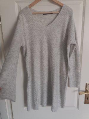 Vero Moda Vestido de lana blanco-gris claro tejido mezclado