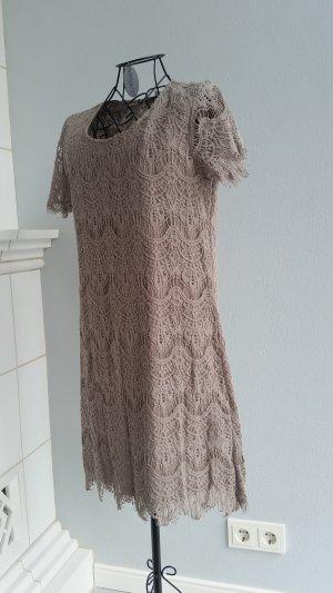 Vero Moda Vestido de encaje marrón claro