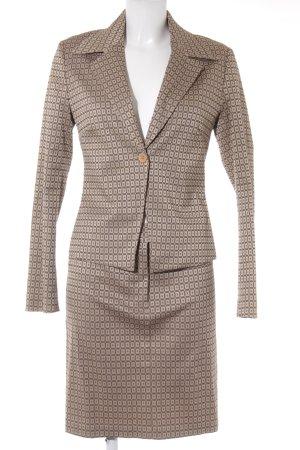 Vero Moda Kostüm beige-hellbraun Allover-Druck Business-Look