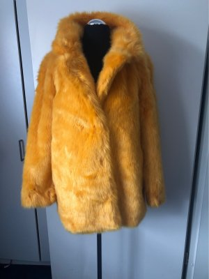 Vero Moda Bontjack limoen geel Kunstbont