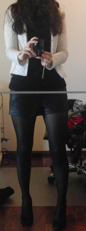 Vero Moda Shorts nero Poliuretano