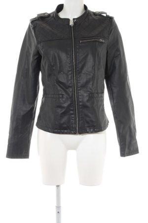 Vero Moda Kunstlederjacke schwarz klassischer Stil