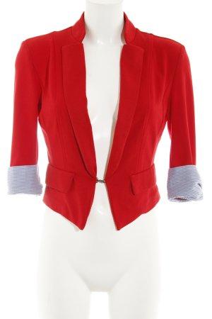 Vero Moda Kurz-Blazer rot Streifenmuster Marine-Look