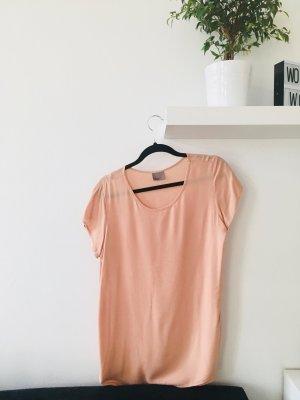 Vero Moda kurzärmlige Bluse T-Shirt Oberteil puder Basic