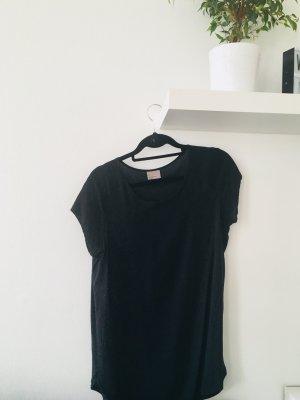 Vero Moda kurzärmlige Bluse T-Shirt Oberteil schwarz Basic