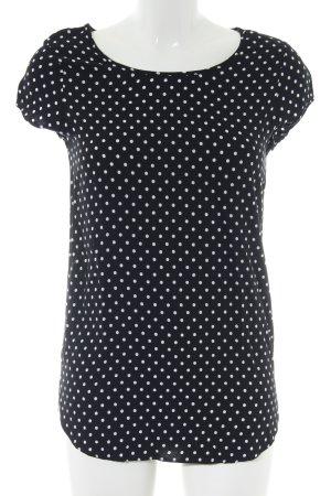 Vero Moda Kurzarm-Bluse schwarz Punktemuster Business-Look