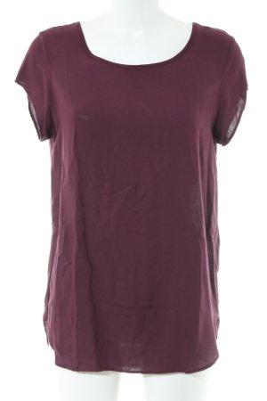 Vero Moda Kurzarm-Bluse rot Casual-Look