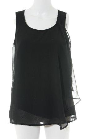 Vero Moda Kurzarm-Bluse schwarz Elegant