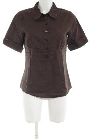Vero Moda Kurzarm-Bluse braun schlichter Stil