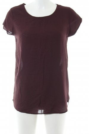 Vero Moda Kurzarm-Bluse braun Business-Look
