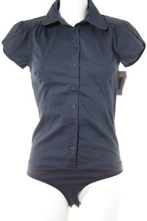 Vero Moda Kurzarm-Bluse dunkelblau Casual-Look