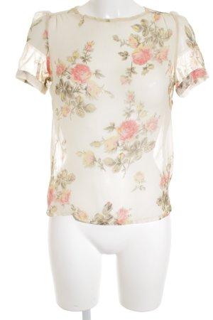 Vero Moda Kurzarm-Bluse florales Muster Street-Fashion-Look