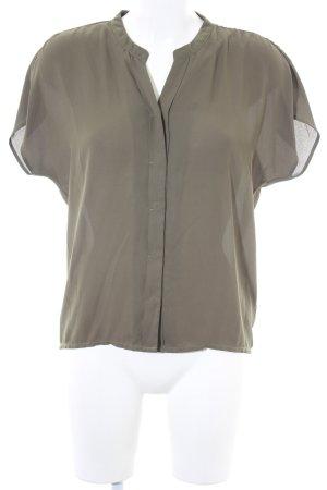 Vero Moda Kurzarm-Bluse khaki Hippie-Look