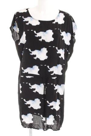 Vero Moda Kurzarmkleid abstraktes Muster Casual-Look