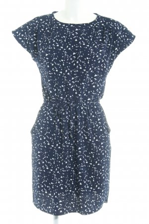 Vero Moda Kurzarmkleid dunkelblau-weiß Farbtupfermuster Casual-Look
