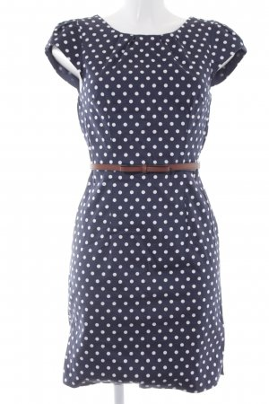 Vero Moda Kurzarmkleid dunkelblau-wollweiß Punktemuster