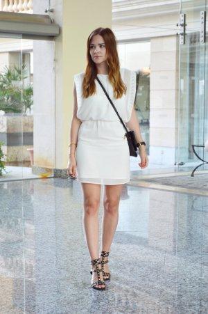 Vero Moda Falda estilo lápiz blanco Se retiró la etiqueta de material
