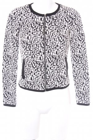 Vero Moda Kurzjacke schwarz-weiß abstraktes Muster Casual-Look