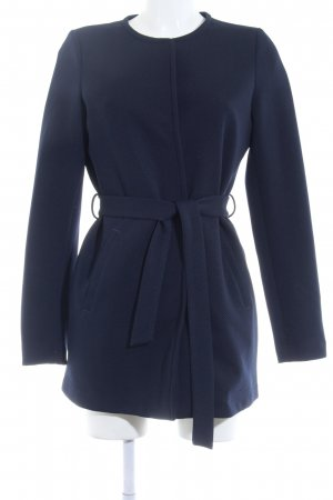 Vero Moda Short Coat dark blue weave pattern casual look