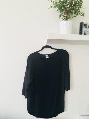 Vero Moda langärmelige Bluse T-Shirt Oberteil schwarz Basic