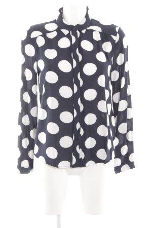 Vero Moda Langarm-Bluse schwarz-weiß Punktemuster Casual-Look