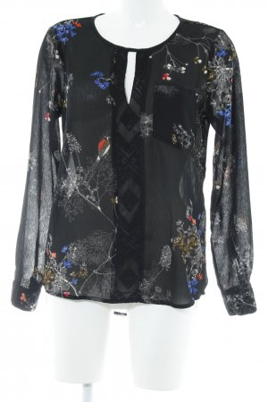 Vero Moda Langarm-Bluse Allover-Druck Elegant