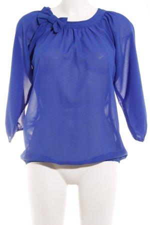 Vero Moda Langarm-Bluse blau Street-Fashion-Look