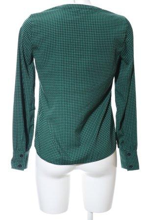 Vero Moda Langarm-Bluse grün-schwarz Allover-Druck Business-Look