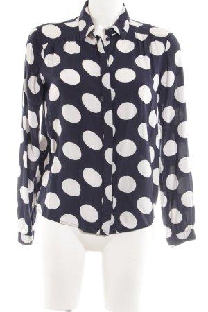 Vero Moda Langarm-Bluse schwarz-weiß Punktemuster Business-Look