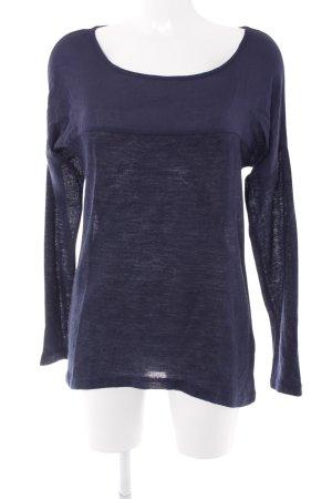 Vero Moda Langarm-Bluse dunkelblau Casual-Look